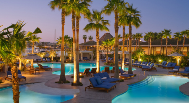 Pool view at Hyatt Regency Mission Bay Spa and Marina