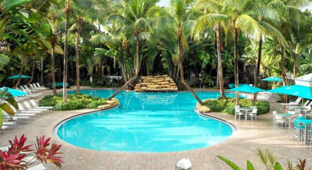 Pool and garden at The Inn at Key West