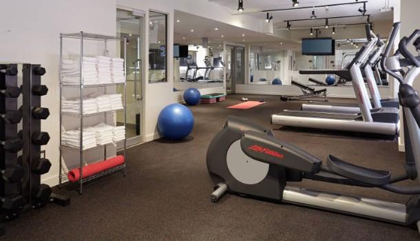 Fitness center at Residence Inn Montreal Downtown