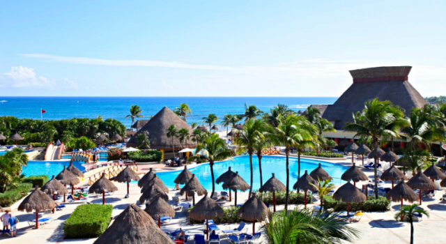 Pools and beach at Grand Bahia Principe Tulum