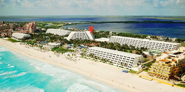 Grand Oadid Cancun resort - aerial view