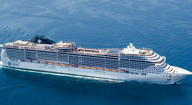 MSC Divina cruise ship view