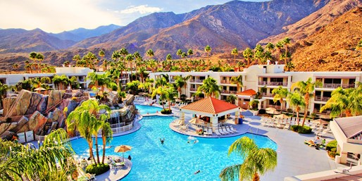 Palm Canyon Resort - aerial view