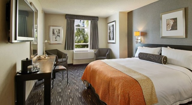 Room at Ramada Plaza Hotel and Suites West Hollywood