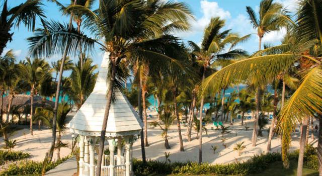 Beach view at ClubHotel Riu Bambu in Punta Cana