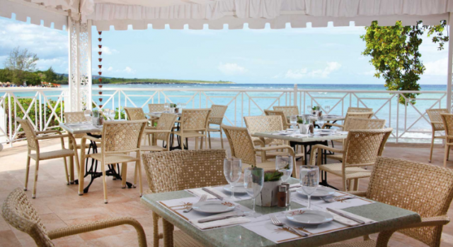 Beach restaurant at Grand Bahia Principe Jamaica