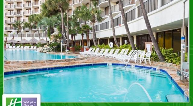 Pool view at Holiday Inn Resort Panama City Beach