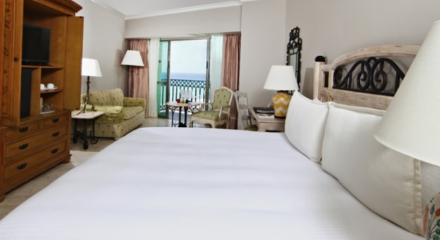 Guest room at Sandos Cancun Luxury Resort