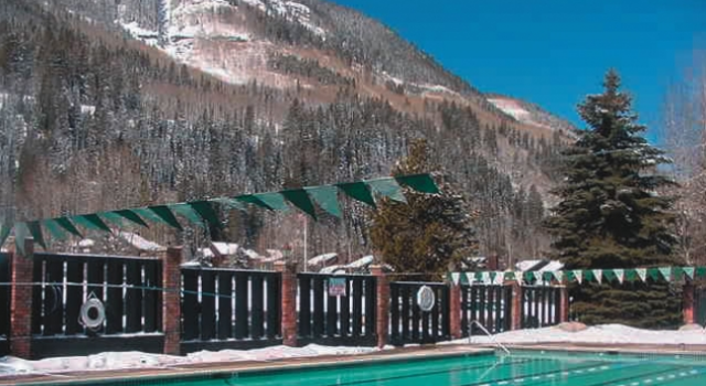 Outdoor pool at Vail Raquet Club