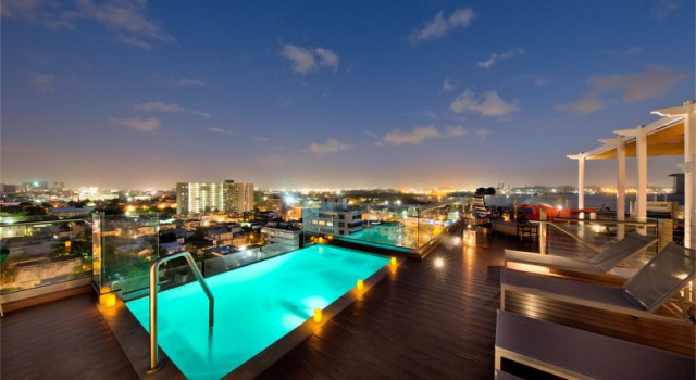 Rooftop pool at Ciqala