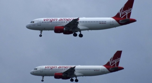 Virgin America airplanes