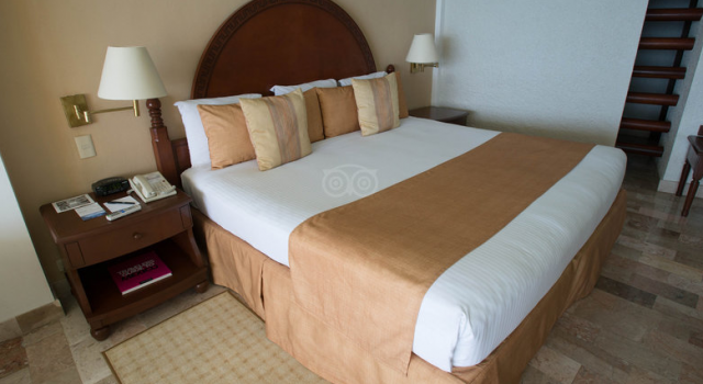 Guest room at Melia Cozumel Golf