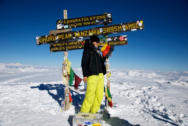 On the top of Kilimanjaro