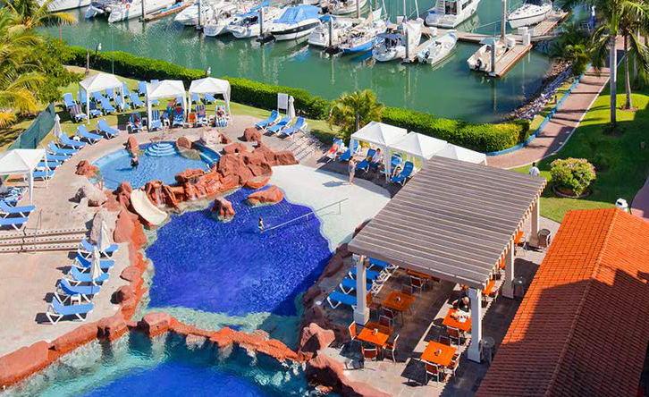 Pool And Marina At Hotel El Cid
